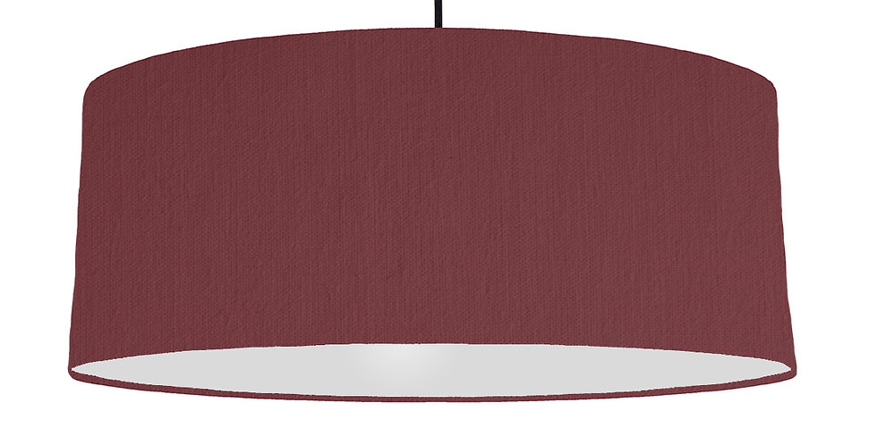 Wine Red & Light Grey Lampshade - 70cm Wide