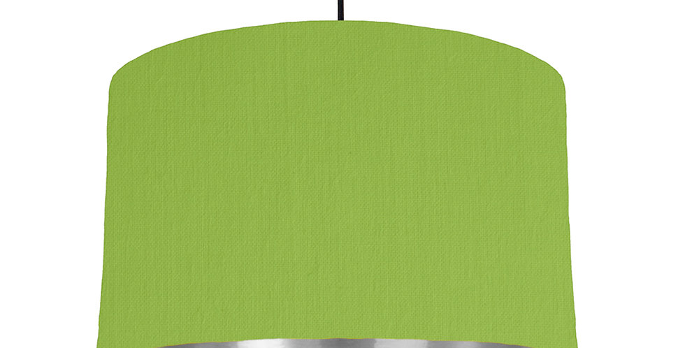 Pistachio & Silver Mirrored Lampshade - 40cm Wide