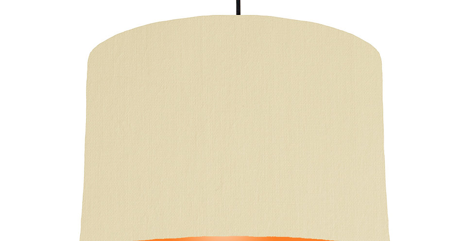 Natural & Orange Lampshade - 30cm Wide