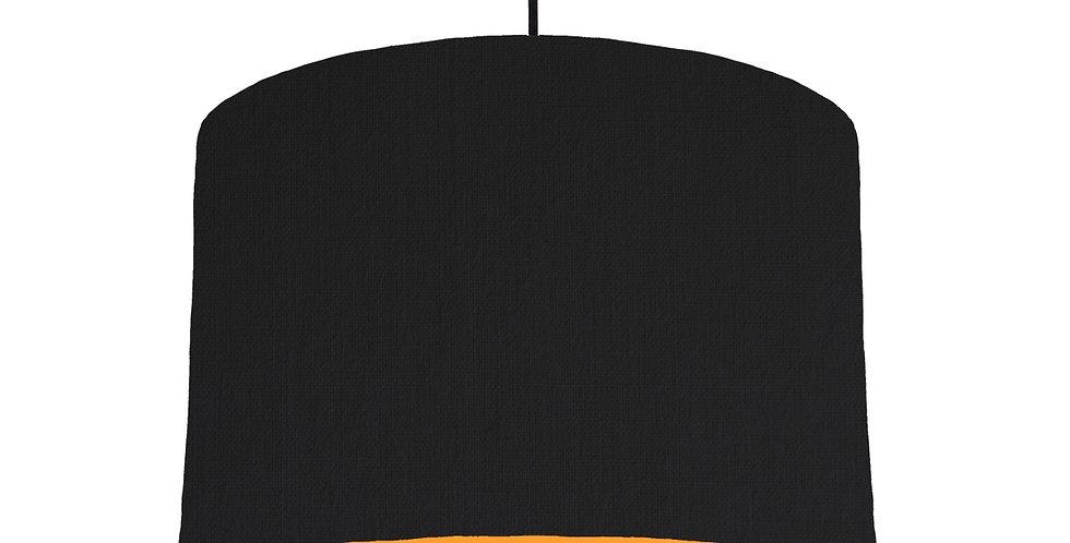 Black & Orange Lampshade - 30cm Wide