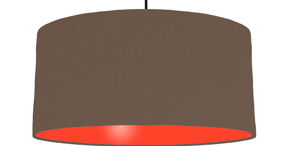 Brown & Poppy Red Lampshade - 60cm Wide