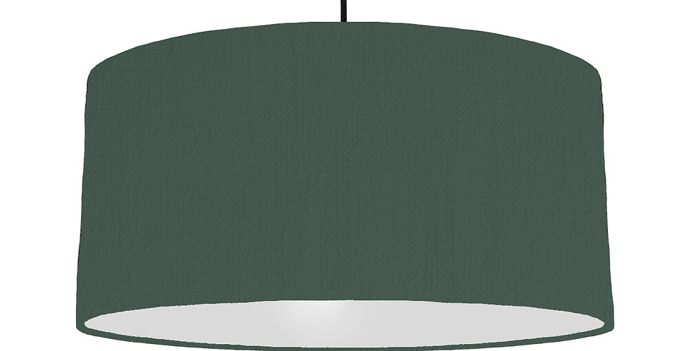 Bottle Green & Light Grey Lampshade - 60cm Wide