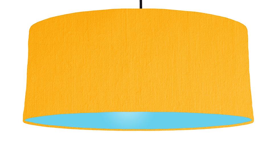 Sunshine & Light Blue Lampshade - 70cm Wide