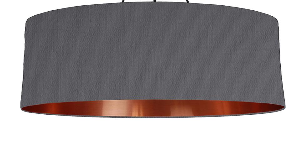 Dark Grey & Copper Mirrored Lampshade - 100cm Wide