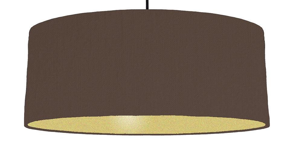 Brown & Gold Matt Lampshade - 70cm Wide
