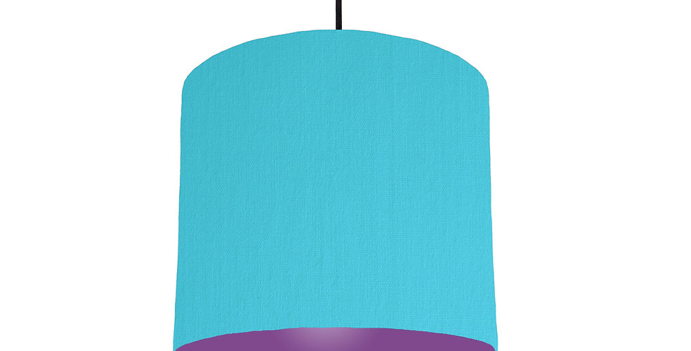 Turquoise & Purple Lampshade - 25cm Wide