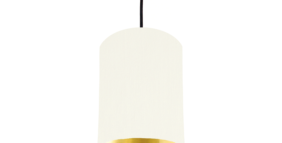 White & Gold Mirrored Lampshade - 15cm Wide