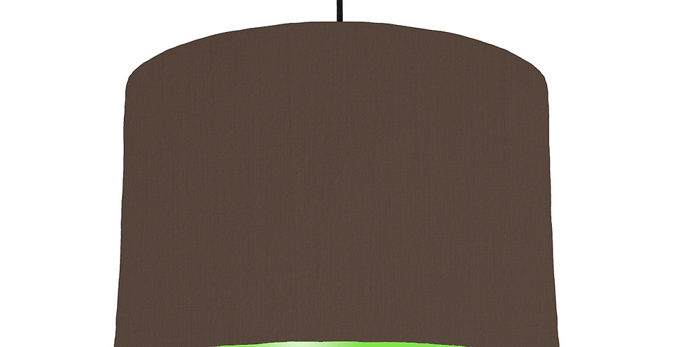 Brown & Lime Green Lampshade - 30cm Wide