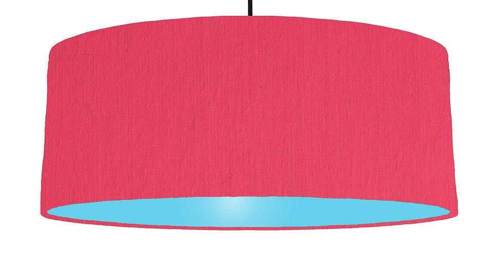 Cerise & Light Blue Lampshade - 70cm Wide