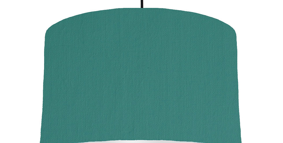 Jade & Light Grey Lampshade - 40cm Wide