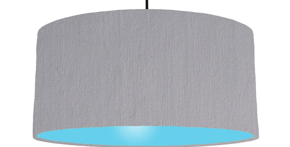Light Grey & Light Blue Lampshade - 60cm Wide