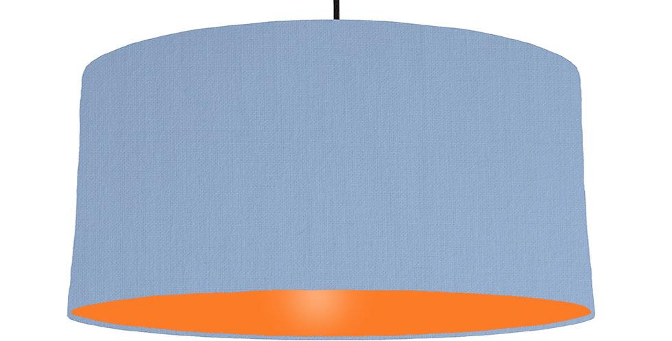 Sky Blue & Orange Lampshade - 60cm Wide