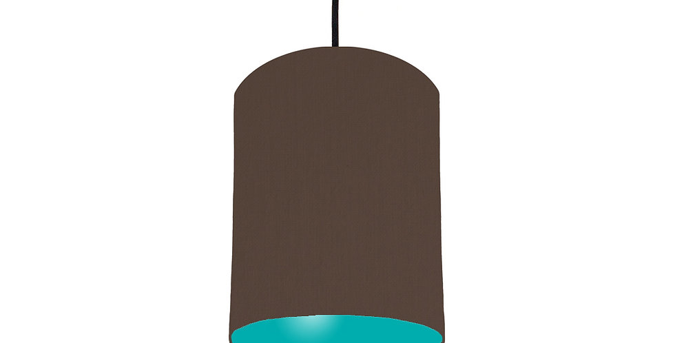 Brown & Turquoise Lampshade - 15cm Wide
