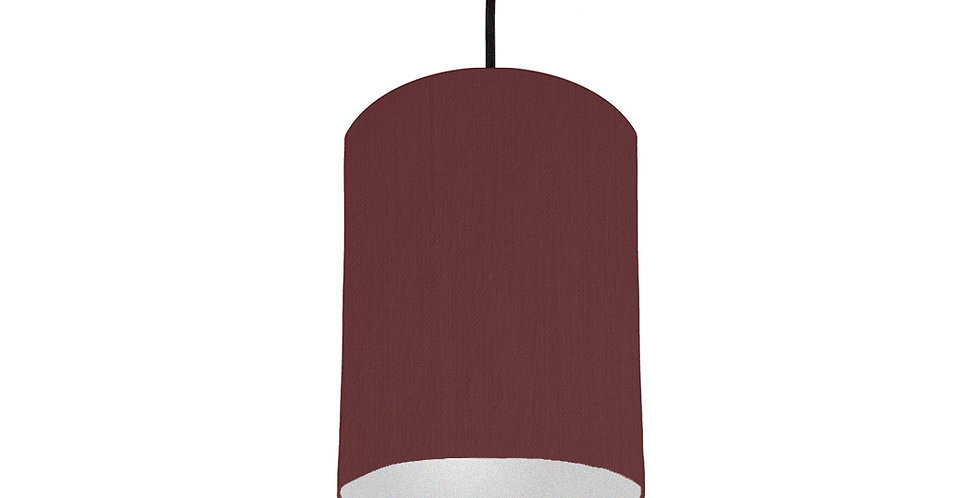 Wine Red & Silver Lampshade - 15cm Wide