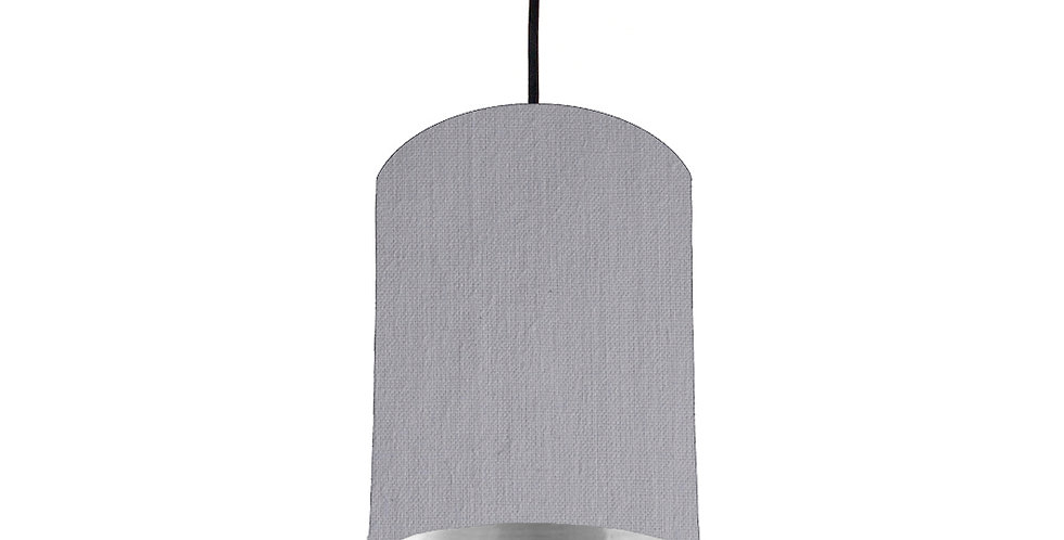 Light Grey & Silver Mirrored Lampshade - 15cm Wide