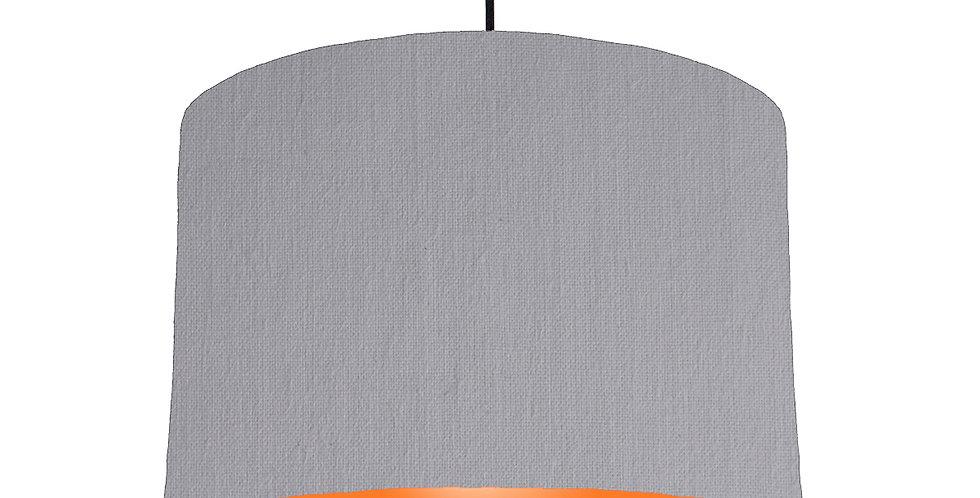 Light Grey & Orange Lampshade - 30cm Wide
