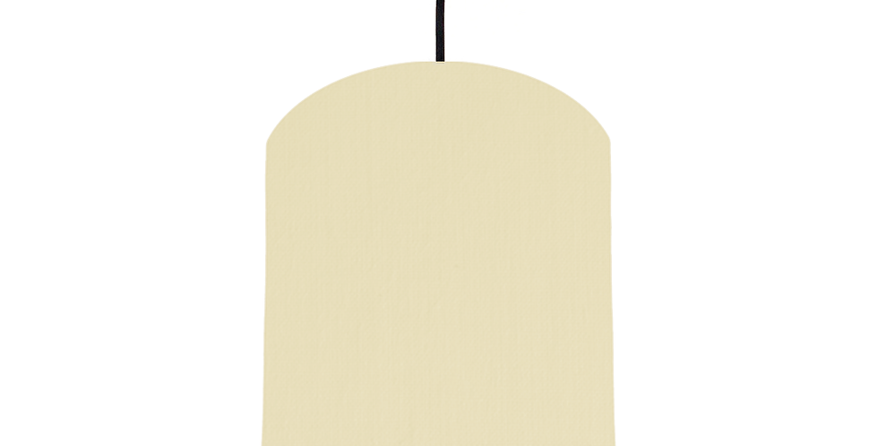 Natural & Gold Mirrored Lampshade - 20cm Wide