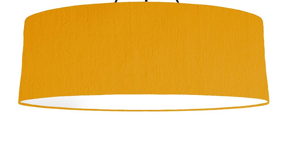 Mustard & White Lampshade - 100cm Wide