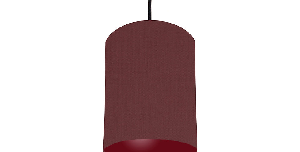 Wine Red & Burgundy Lampshade - 15cm Wide