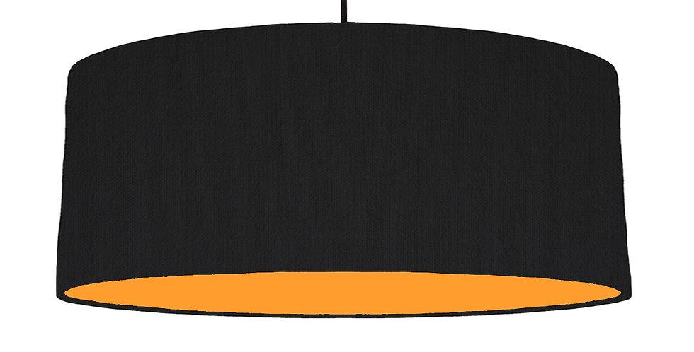 Black & Orange Lampshade - 70cm Wide