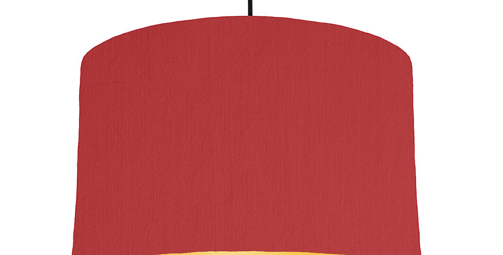 Red & Butter Yellow Lampshade - 40cm Wide