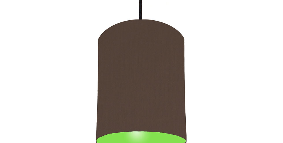 Brown & Lime Green Lampshade - 15cm Wide