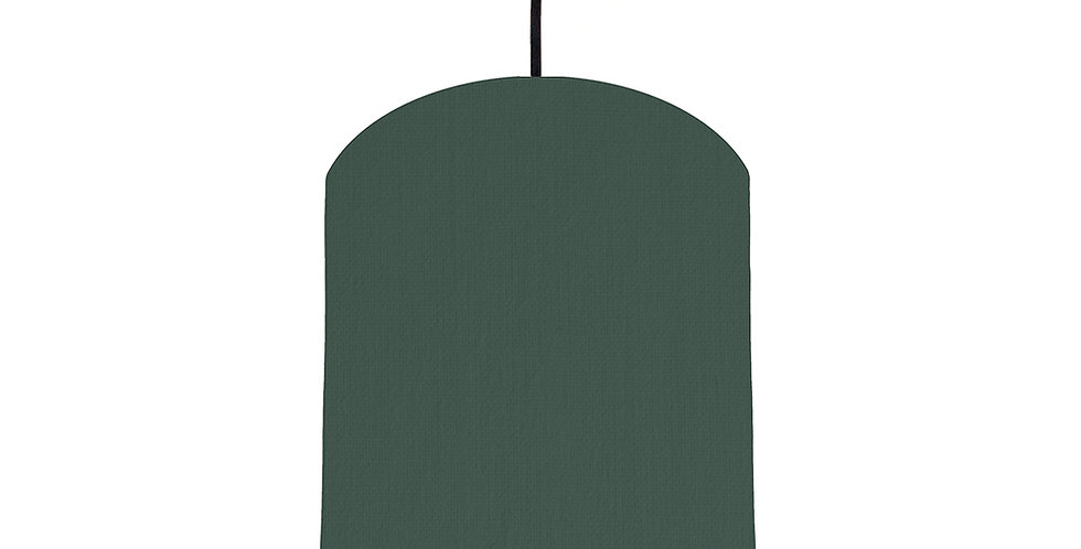 Bottle Green & Forest Green Lampshade - 20cm Wide