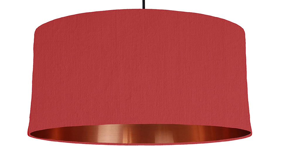 Red & Copper Mirrored Lampshade - 60cm Wide