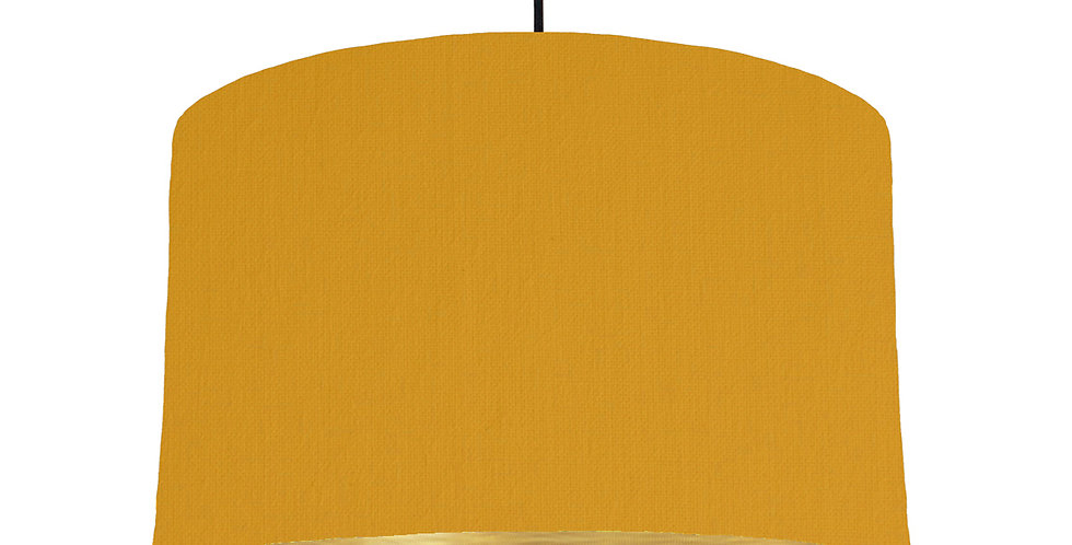 Mustard & Brushed Gold Lampshade - 40cm Wide