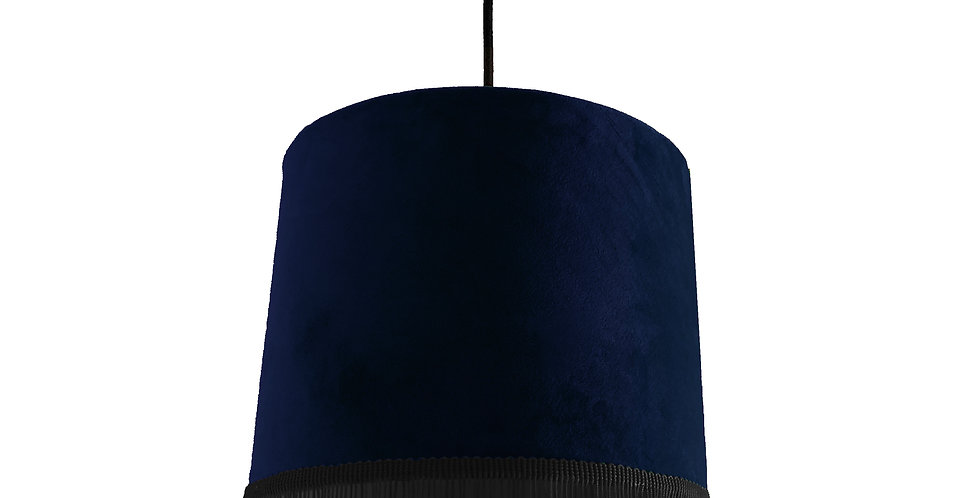Navy Blue Lampshade With Trim