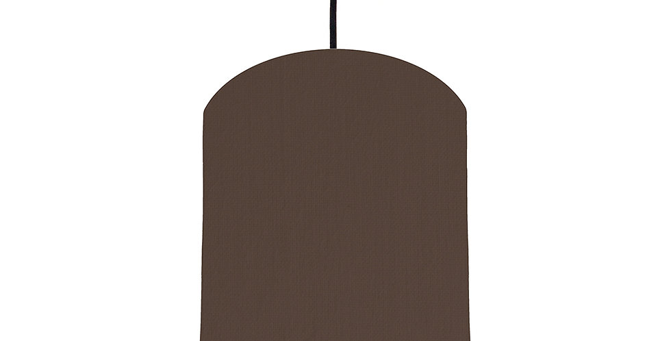Brown & Burgundy Lampshade - 20cm Wide