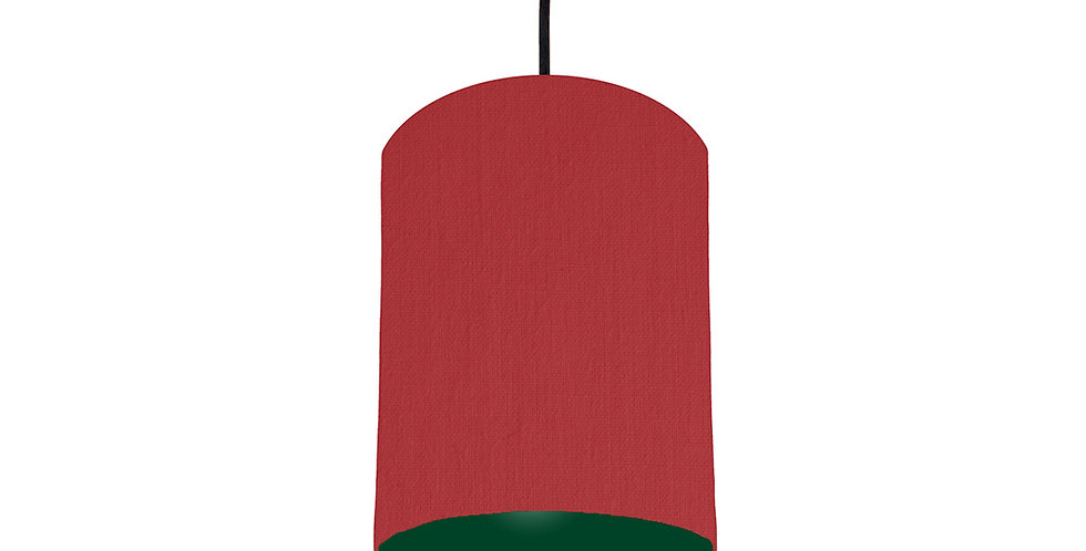 Red & Forest Green Lampshade - 15cm Wide