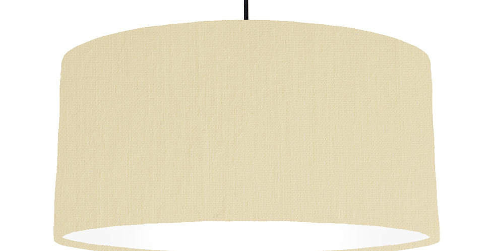 Natural & White Lampshade - 60cm Wide