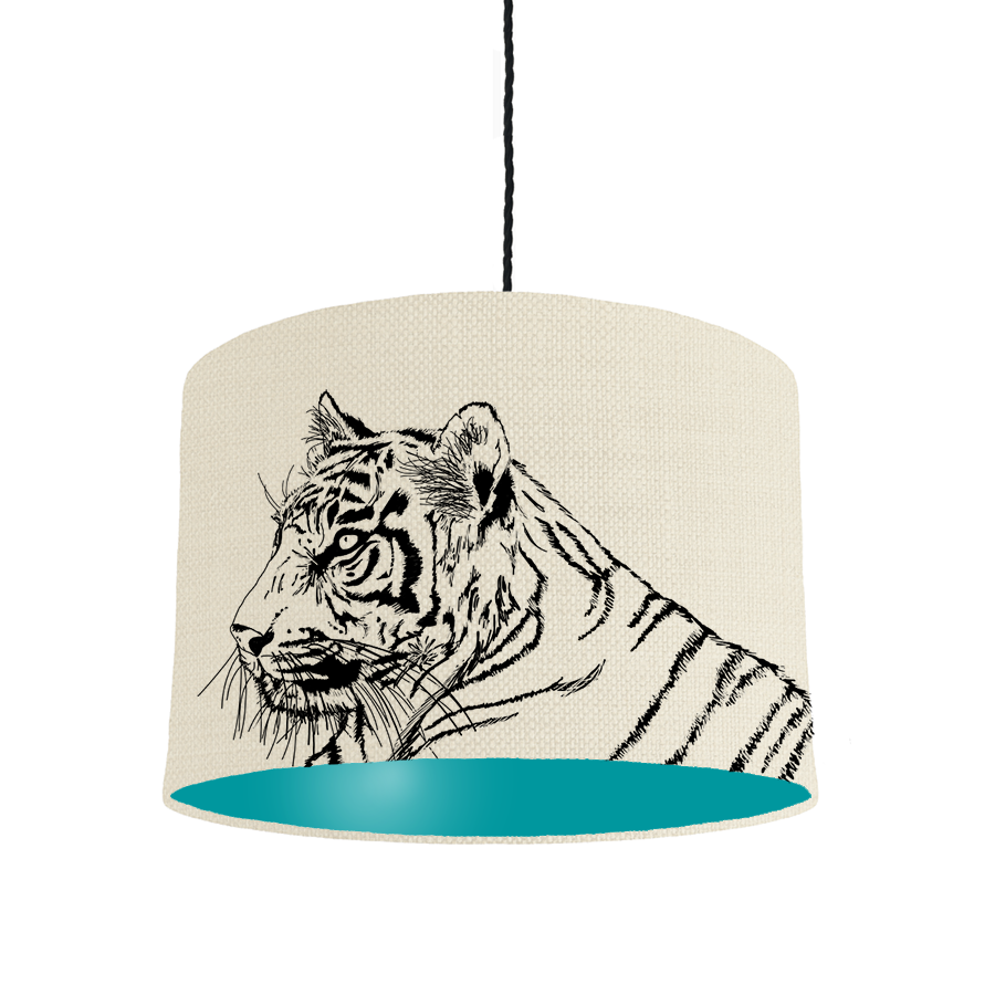 Tiger Turquoise lampshade