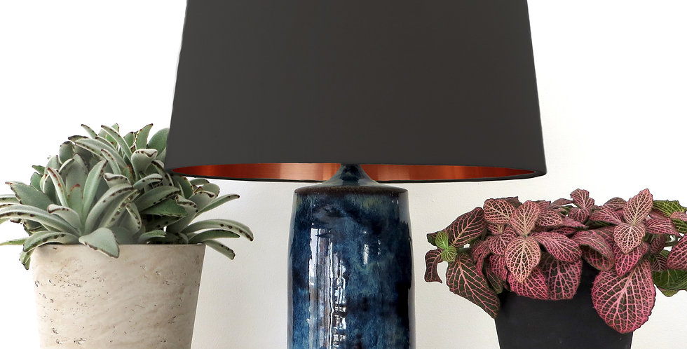 Conical Lampshade (30Tx35Bx30H) - Copper Mirror Lining