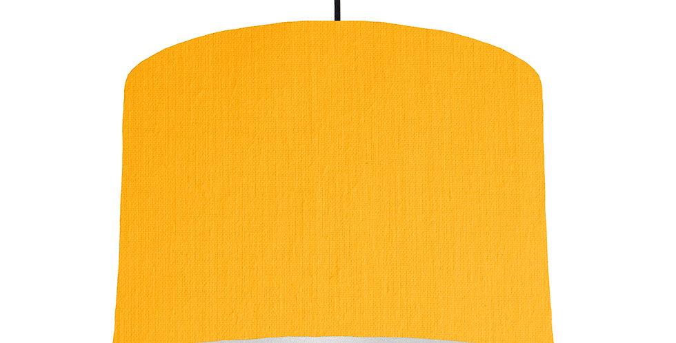 Sunshine & Silver Matt Lampshade - 30cm Wide