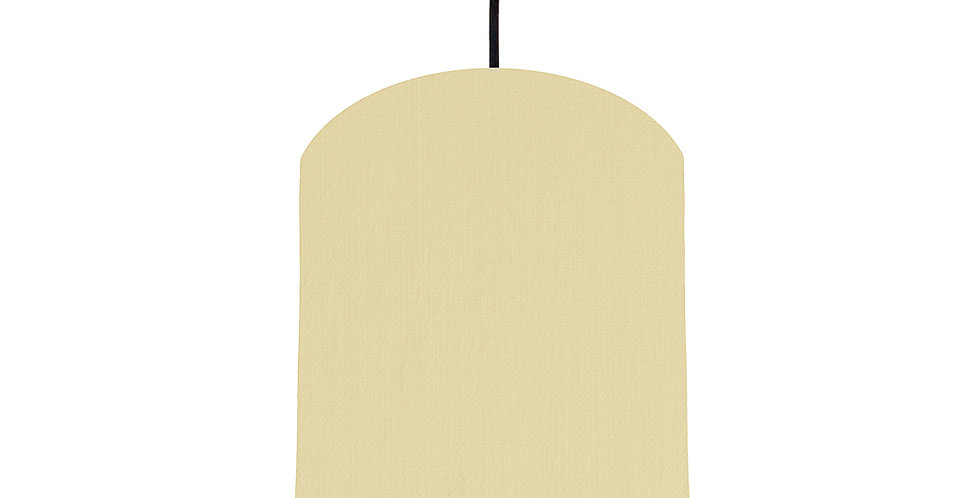 Natural & Forest Green Lampshade - 20cm Wide