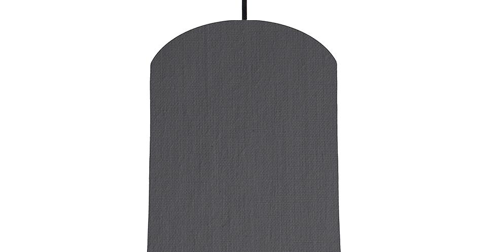 Dark Grey & White Lampshade - 20cm Wide