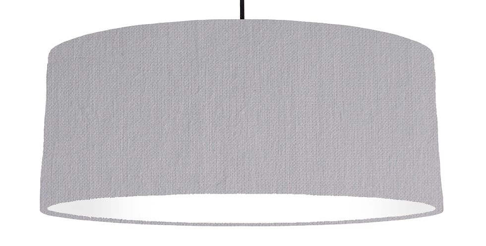 Light Grey & White Lampshade - 70cm Wide