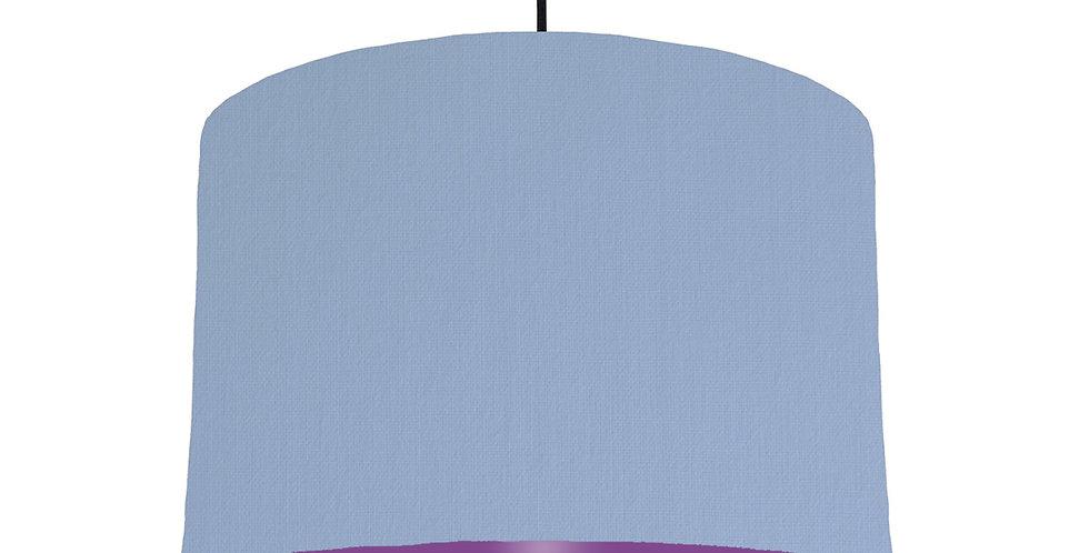 Sky Blue & Purple Lampshade - 30cm Wide