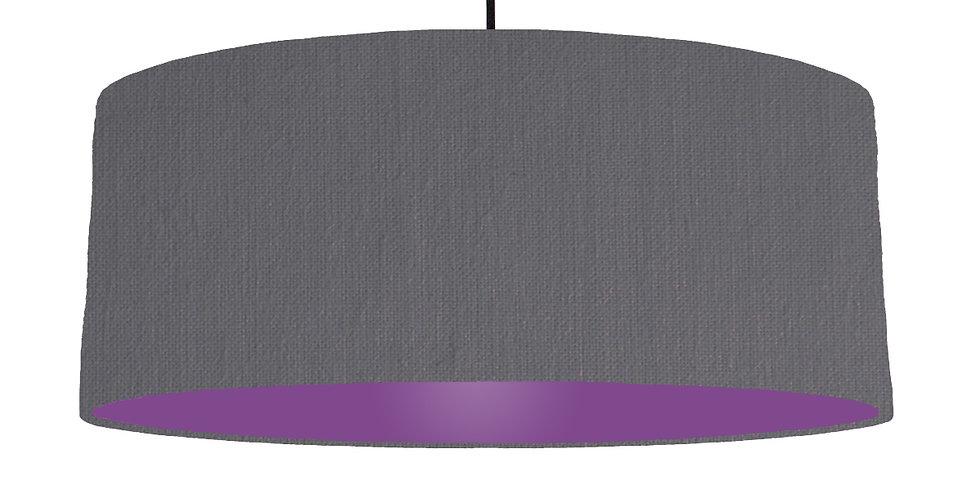 Dark Grey & Purple Lampshade - 70cm Wide
