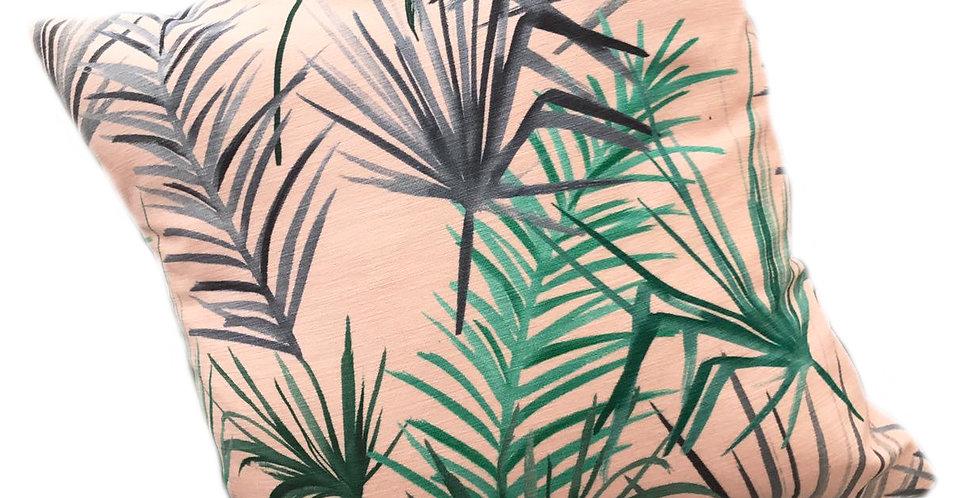 Tropical Leaf Cushion - Pink