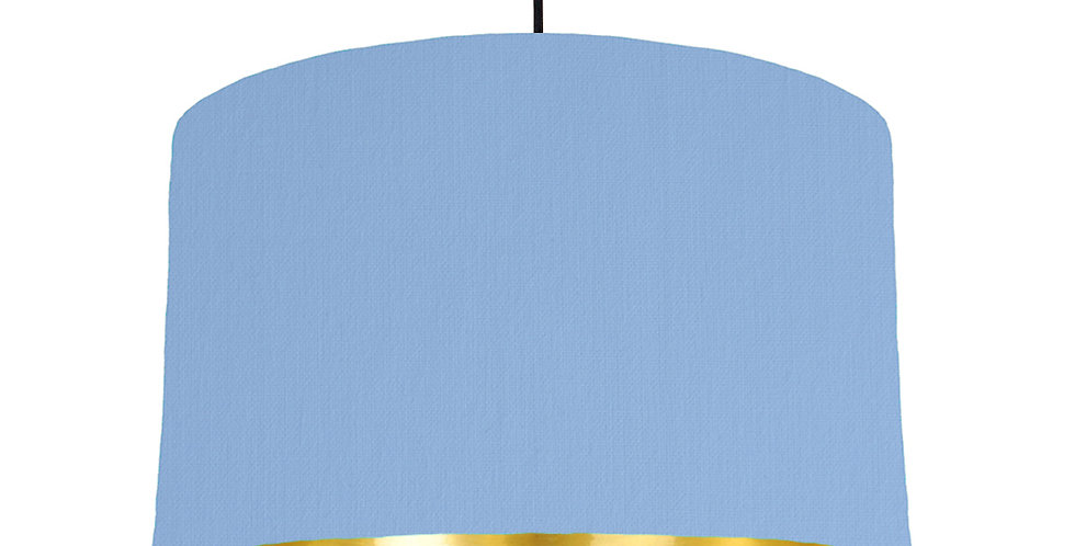 Sky Blue & Gold Mirrored Lampshade - 40cm Wide