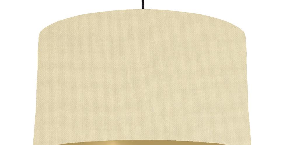 Natural & Gold Matt Lampshade - 50cm Wide