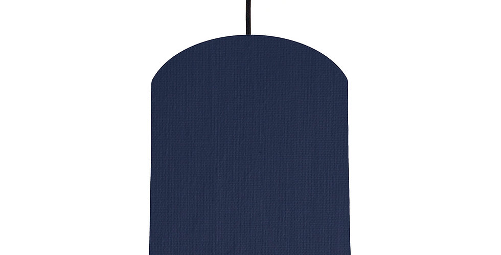 Navy Blue & Lime Green Lampshade - 20cm Wide