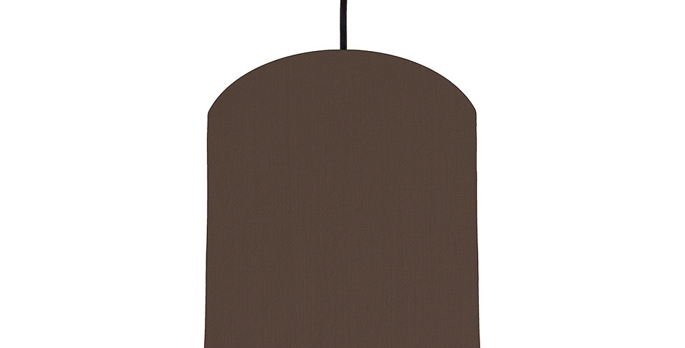 Brown & Light Blue Lampshade - 20cm Wide