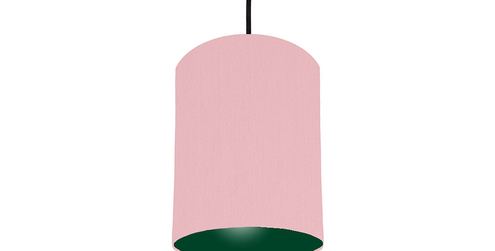 Pink & Forest Green Lampshade - 15cm Wide