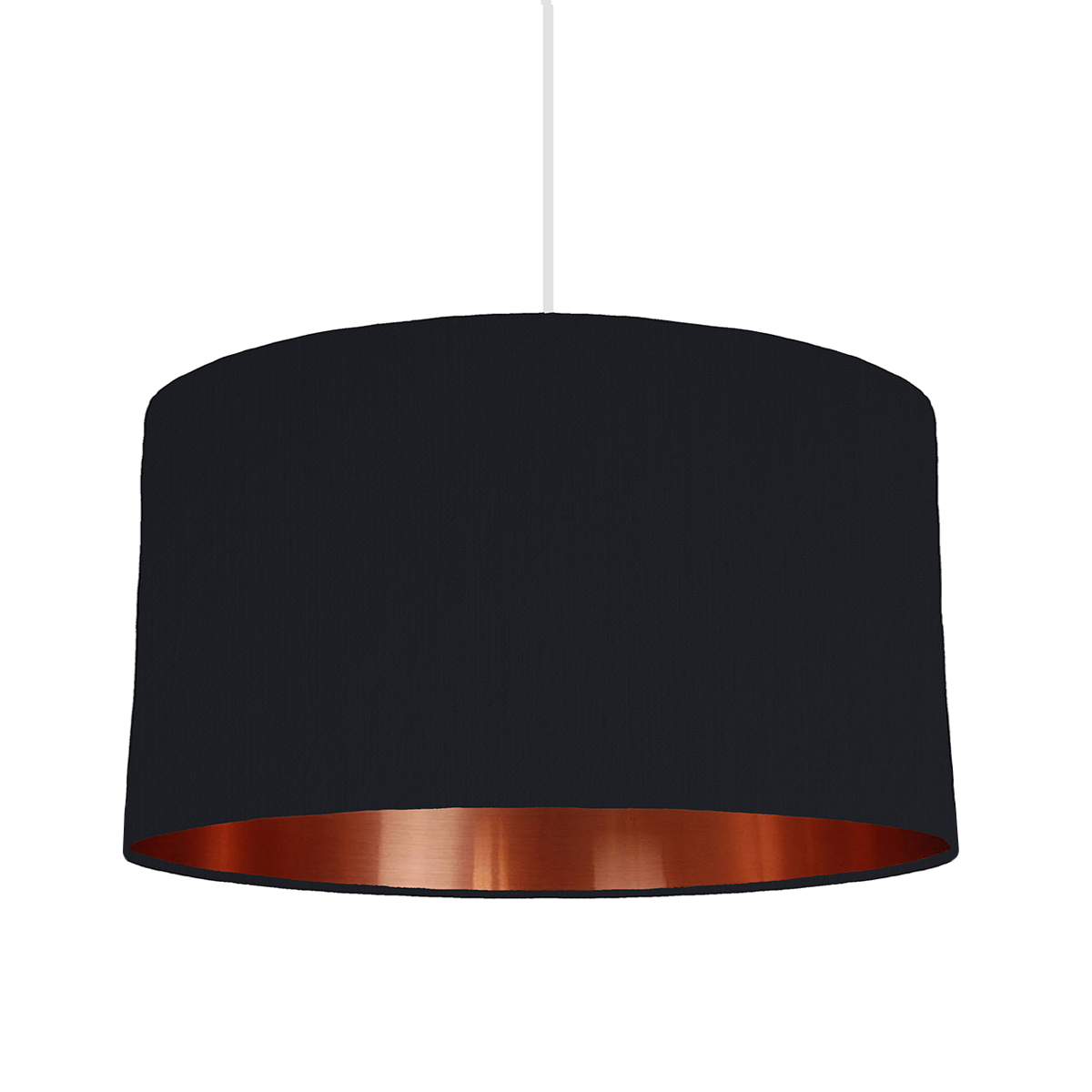 Black & copper lampshade