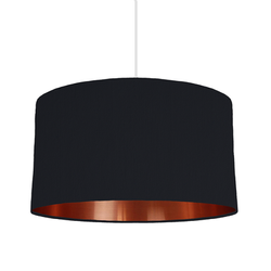 Black & copper lampshade