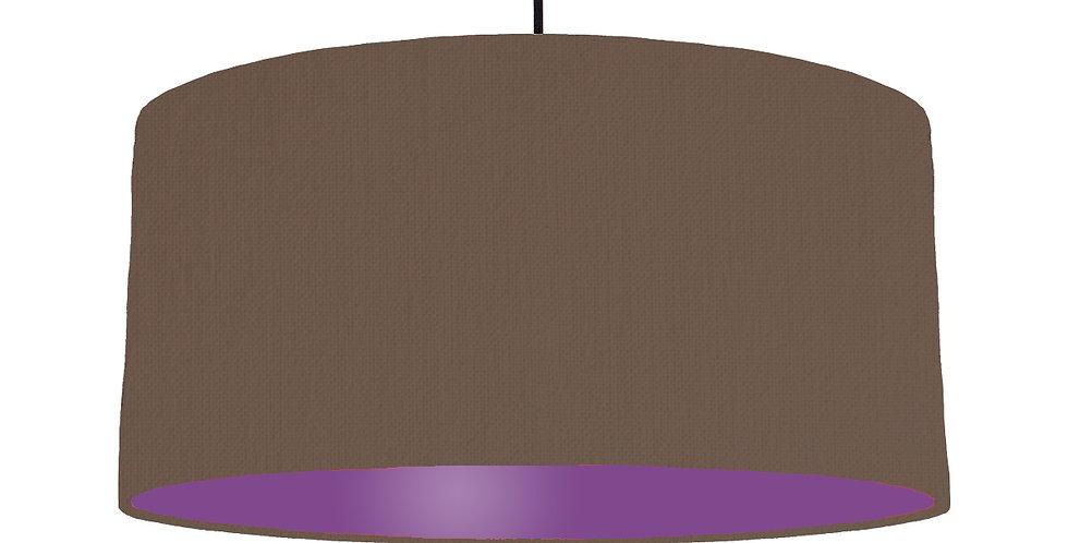 Brown & Purple Lampshade - 60cm Wide